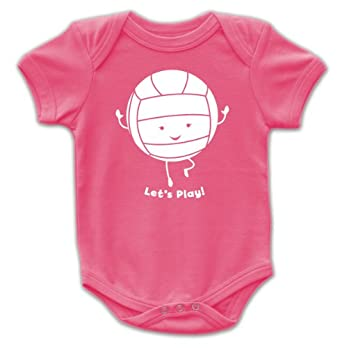 Amazon com volleyball sports kid s baby cute bodysuit t shirt clothing
