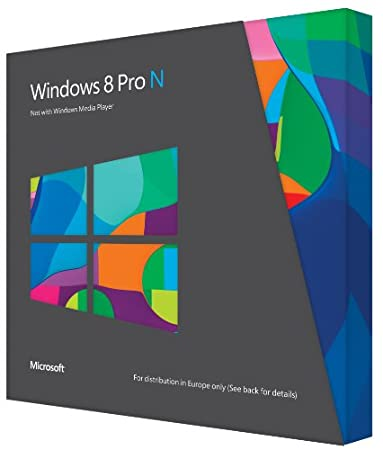 Windows 8 Pro, Upgrade Edition, N Version [upgrade from Windows XP, Windows Vista, Windows 7] (PC)