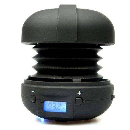 X-Mini Rave Portable Capsule Speaker with FM Radio, Black