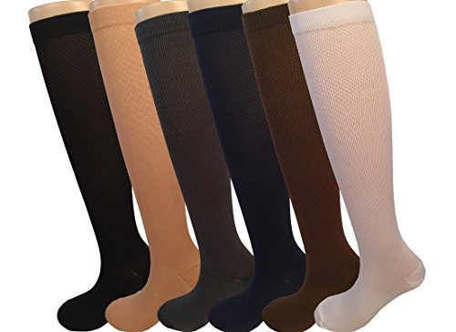 Womens-6-Pair-Compression-Running-Hiking-Bike-Travel-Socks