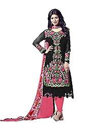 Subhash Sarees Daily Wear Black Color Fox Georgette Salwar Suit Dress Material