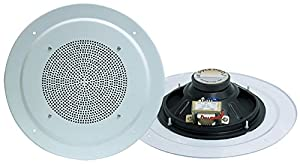 Pyle Home PDICS8 8-Inch Full Range In-Ceiling Speaker System with Transformer (Pair)