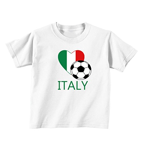 Italian Soccer Italy Futbol Football Baby Toddler Kid T-shirt Tee - 6mo Thru 7t 18 Months (Italian Baby Soccer compare prices)