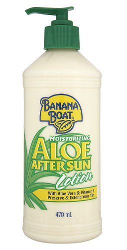 Banana Boat Moisturising Aloe After Sun Lotion With Aloe Vera & Vitamin E  Preserve & Extend  Your Tan 470 ml