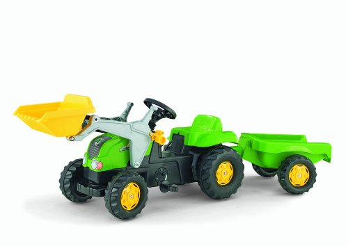 Rolly Kid-X Front Loader Tractor, Green front-59434