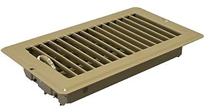 """Metaline 12509 Brown 4"""" x 8"""" Floor Register"""