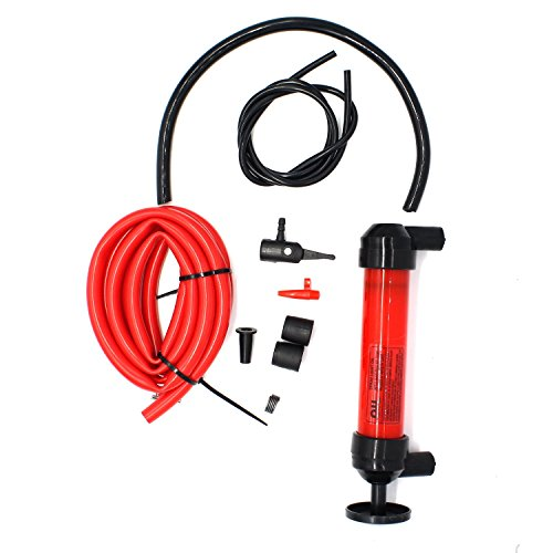 MOTONG Hand Siphon Pump Manual Plastic Sucker Pump With Two - 50 x ½ Inch Hoses For Gas, Oil, Air, & Other Fluids in Emergency case (Hand Siphon Pump) (Snow Blower Gas Used compare prices)