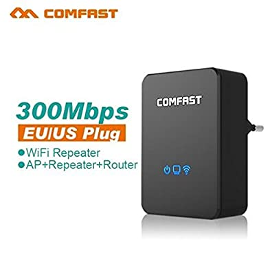 Wireless Router, COMFAST CF-WR300N WiFi Repeater Network Range Expander Amplifier Wireless Signal Booster