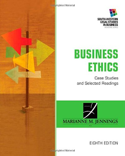 Business Ethics: Case Studies And Selected Readings (South-Western Legal Studies In Business Academic Series) front-35497