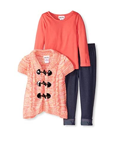 Little Lass Kid's Toggle Sweater 3-Piece Set