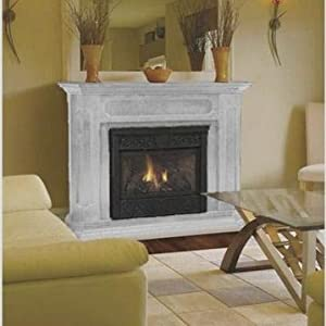 Monessen Chesapeake 32 Inch Natural Gas Vent Free Fireplace System With Unfinished Mantel