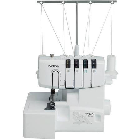 Brother 1634D 3 or 4 Thread Serger with Differential Feed, Soft Cover and Accessories (Brother Serger Gathering Foot compare prices)