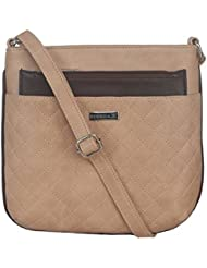 ESBEDA Beige Color Quilted Slingbag For Womens - B01KVFRZ0Q