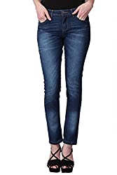 KOTTY Blue Mid Rise Skinny washed Jeans