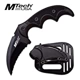 MTech USA Fixed Blade Tactical Knife G10 Texture Handle with Holster 2 Inch Blade (BLACK) (Color: BLACK)
