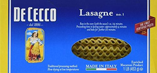 De Cecco Pasta, Lasagne, 16 Ounce (Lasagne Pasta compare prices)