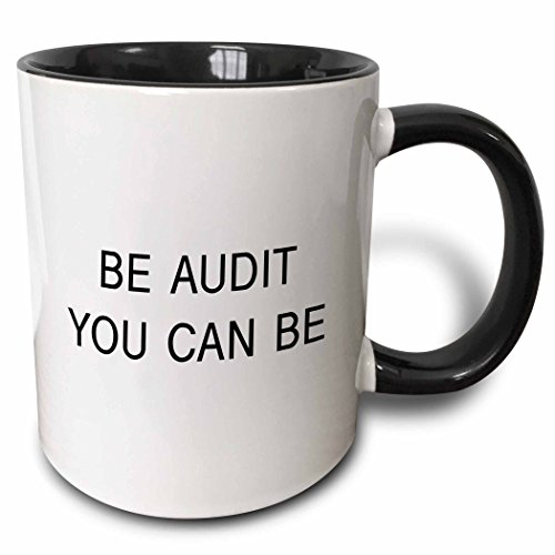 3dRose BE AUDIT YOU CAN BE - Two Tone Black Mug, 11oz (mug_222215_4), 11 oz, Black/White (Be Audit You Can Be compare prices)