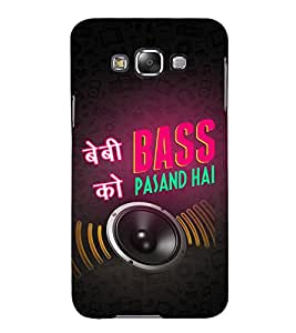 Baby ko Bass Pasand Hai 3D Hard Polycarbonate Designer Back Case Cover for Samsung Galaxy E5 :: Samsung Galaxy E5 E500F (2015)
