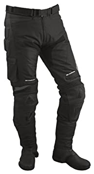 Roleff Racewear 4902 Pantalon Moto Textile/Mesh et Cuir, Noir, S
