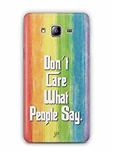 YuBingo Don't Care What People Say Designer Mobile Case Back Cover for Samsung Galaxy On 5 Pro
