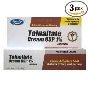 [3 PACK] Family Care Tolnaftate Antifungal Cream 1% Compare to Tinactin