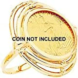 41oN6TlXjYL. SL160  14K Gold 1/10oz American Eagle Coin Ring Sz 6