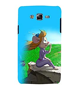 printtech Cartoon Mouse Girl Back Case Cover for Samsung Galaxy Grand Prime G530h