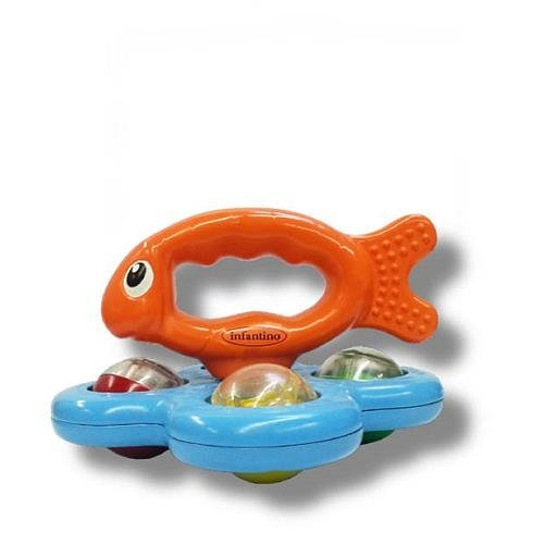 Infantino Grippin' Guppy Rolling Rattle