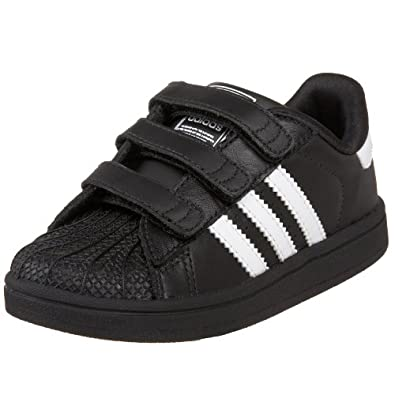 adidas Originals Superstar 2 Comfort Sneaker (Infant/Toddler),Black/White/Black,5 M US Toddler
