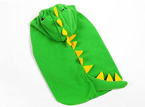 Artikelbild: Winter Coat Dinosaurier Kostüm für Hunde Hunde kaltem Wetter Fell Große Hunde Hoodie Mantel mit Tasten