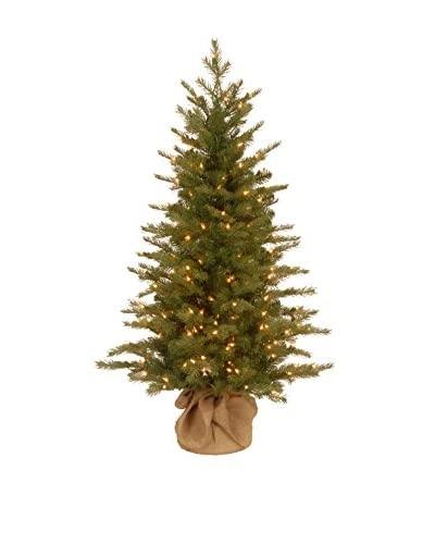 National Tree Company 4' Feel Real Nordic Spruce Small Tree in Burlap