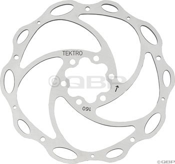Buy Low Price Tektro Lyra 160mm Lyra Cross Rotor w/Bolts (160mm Light-Wave rotor)