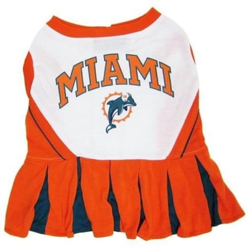 MIAMI DOLPHINS CHEERLEADER DOG DRESS OUTFIT ALL SIZES LICENSED NFL (Small) (Nfl Dolphins Uniform Costume)