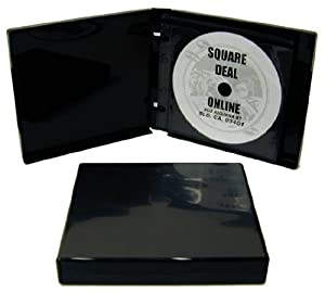 (25) Black 12-Disc Capacity CD DVD 2-Ring Album Wallet Book Storage CDBR2412BK (UniKeep Style)
