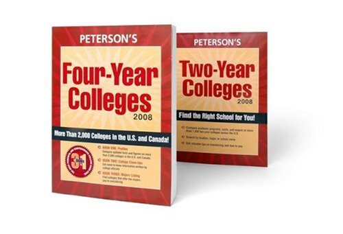 Undergraduate Guides Set 2008 (2 Vols) (Peterson's Undergraduate College Guides Set (2v))