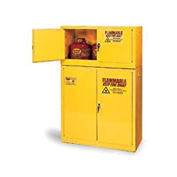 Eagle 9010 Safety Cabinet for Flammable Liquids, 2 Door Self Close, 90 gallon, 65\