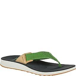 Merrell Men\'s Duskair Flip Sandal, Green, 11 M US