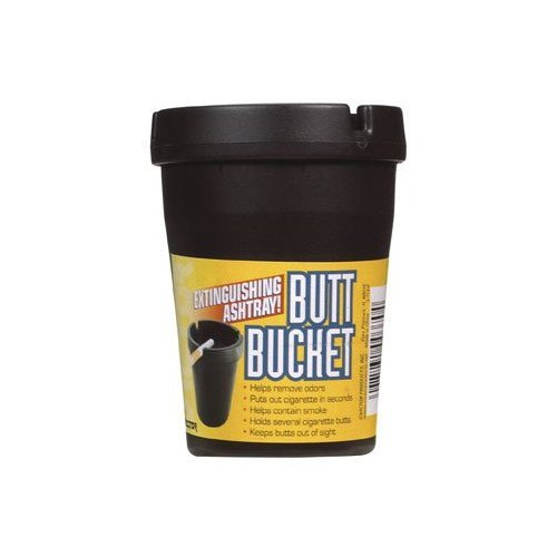 12 pc set Butt Bucket Personal & Auto Ashtray Black