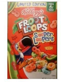 Kelloggs Limited Edition Sooper Looper Cereal 12.2 Oz (1 unit 1 box) (038000391187)
