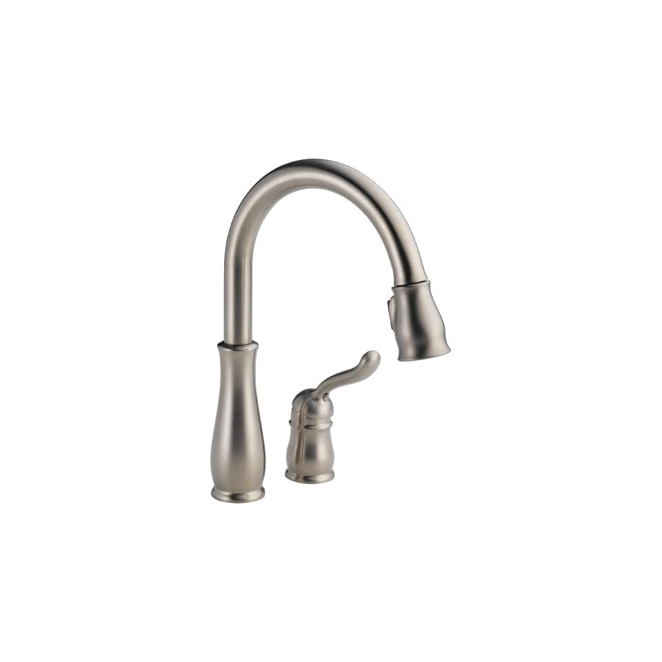 Delta 978 SS DST Leland Single Handle Pull Down Kitchen Faucet, Stainless