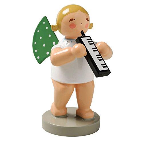 Wendt & Kuhn Blonde Hand Painted Grunhainichen Angel Melodica Figurine