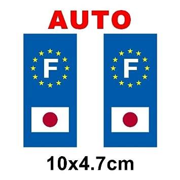 autocollant plaque immatriculation immatriculation drapeau japon auto cuisine maison. Black Bedroom Furniture Sets. Home Design Ideas