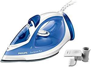 Philips GC2046/27 EasySpeed Plus Dampfbügeleisen inklusive Kabelführung, Keramik Bügelsohle, blau
