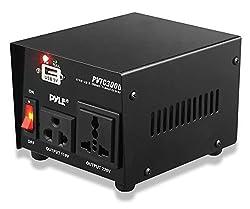Pyle PVTC300U 300 Watt AC 110/220 V Step Up and Step Down Converter Transformer with USB Charging Port