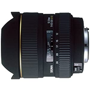 Sigma 12-24mm f/4.5-5.6 EX DG IF HSM Aspherical Ultra Wide Angle Zoom Lens for Nikon SLR Cameras