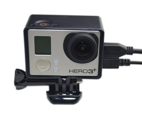 Gopro Bacpac Extension Edition Frame Mount With Screw For Hero 3 Hero 3+ / Hero 3 Plus Cameras - Black