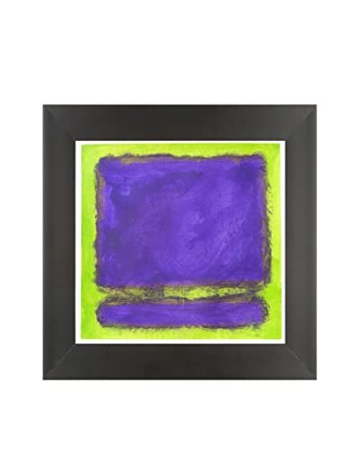 Filippo Ioco Purple Mist Original Hand Painted Acrylic On Paper
