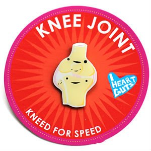 Knee Joint Lapel Pin Kneed For Speed I Heart Guts