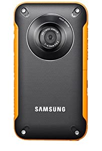 Samsung HMX-W300 Waterproof Pocket HD Digital Video Camcorder, Orange/Black - Manufacturer Refurbished