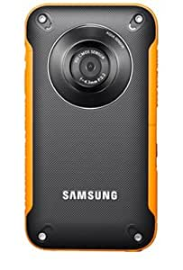 Samsung HMX-W300 Waterproof Pocket HD Digital Video Camcorder, Orange/Black - Manufacturer Refurbished